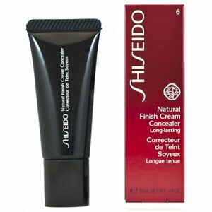 Shiseido Natural Finish Cream Concealer Long Lasting #6 Honey Miel .44oz Full Sz