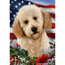Labradoodle Blonde Patriotic Flag
