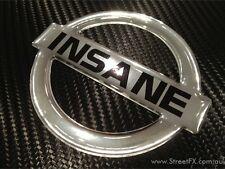 CHROME INSANE NISSAN BADGE Emblem for Nismo C33 Laurel Silvia SR20 grill bonnet