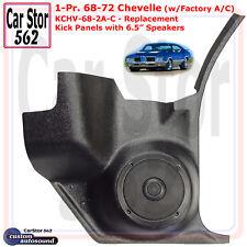 "Custom Autosound KCHV-68/2A-COM Kick Panels&6.5"" Spkrs 68-72 Chevelle w/ A/C"
