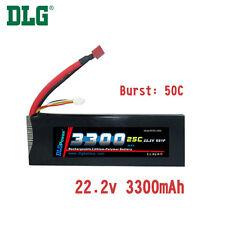 Genuine DLG RC Battery 22.2V 6S 25C 3300mAh Burst 50C Li-Po LiPo Dean's T plug