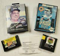 Sega Genesis Lot of 2 LaRussa Baseball & Tommy Lasorda Baseball TESTED Games #4
