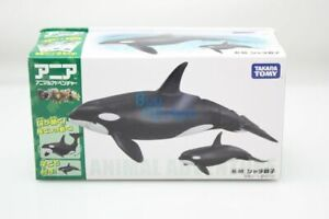 Takara Tomy ANIA Animal AL-08 Killer Whale 2X SET Action Figure Educational Toy