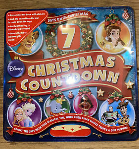 7 DAY DISNEY CHRISTMAS COUNTDOWN - UNLOCK TIN - ADVENT CALENDAR - New