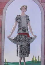 George Barbier Me voici !  Gazette Bon Ton 1924/25 pl. 3 robe de Worth