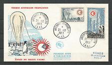 FSAT - TAAF 1963, DALLAY 24, PA 7, FDC, PREMIER JOUR