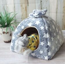 New Warm Pet Dog Cat House Beds Kennel Tent Cushion Puppy Kitty Indoor house S-L