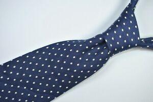 POLO By RALPH LAUREN Tie 100% Linen Blue/White Color L57 W3.9