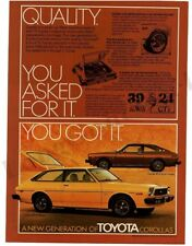 1976 TOYOTA COROLLA SR-5 Brown Sport Coupe, Yellow Hatchback VTG PRINT AD