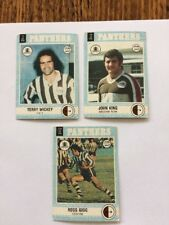3 1977 Scanlens Rugby League Trading Cards. Penrith Panthers