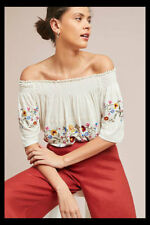 7025fbb6e7cb NWT Anthropologie Ranna Gill Washoe Off The Shoulder Blouse Peasant Top XL  $88