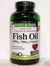 Nature's Bounty Maximum Strength Fish oil 1400mg, 980mg of Omega-3, 130 Softgels
