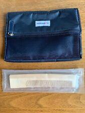 AIR FRANCE Zippered Flat Bag & La Premiere First Class Wood Comb