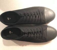 NEW men's H&M sneakers size 11.5 black sole 45 skate shoes vans canvas converse