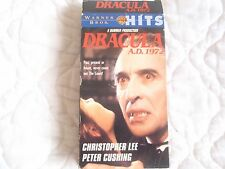 DRACULA A.D. 1972 VHS CHRISTOPHER LEE PETER CUSHING CAROLINE MUNRO 70'S HORROR