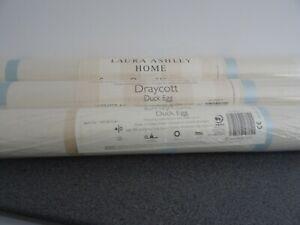 Laura Ashley NEW 3 rolls wallpaper sealed DRAYCOTT Duck Egg blue white beige