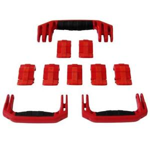 New Pelican Red 1650 replacement latches (7) & handles (3) - kits.
