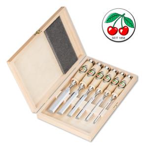 Kirschen 6x Stechbeitelsatz Nr. 1001 Stecheisen  6 10 12 16 20 26 mm Holzkasten