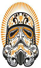 CANDY SKULL STICKER STAR WARS STORM TROOPER HELMET STICKER