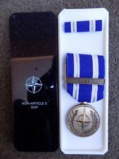 GENUINE NATO MEDAL FOR ISAF AFGHANISTAN IN NAMED BOX OF ISSUE PRE JAN 2011