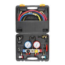 4 Way Achvac Diagnostic Manifold Gauge 4 Hose Set R410 R22 R134a Professional