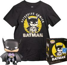 Batman - First Appearance Batman EXCLUSIVE FUNKO Pop T-SHIRT BOX SET *NEW* RARE!