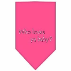 Who Loves Ya Baby Rhinestone Bandana