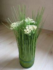 Stehgras Reisgrasbündel  Blüten creme Gras Kunstpflanze H 35 cm 185816 F19