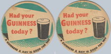 Guinness UK 1952 No.8 Beermat Coaster Bierdeckel Sousbock