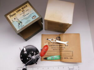 ~ Vintage PENN Long Beach 65 Reel ~ in Original Box~ Nice ~ Catalog too ~