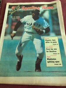 Willie Mays Sporting News July 19, 1971 San Francisco Giants New York Mets