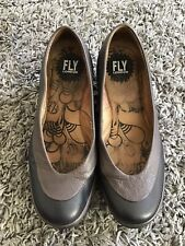 FLY LONDON WOMENS BLACK AND BROWN WEDGES UK SIZE 4/37