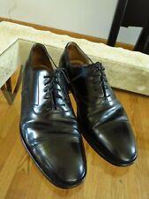 SALVATORE FERRAGAMO Black Cap Toe Oxford Shoes  10 EE