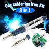 3 in 1 Gas Blow Torch Soldering Solder Iron Gun Butane Cordless Welding Pen New