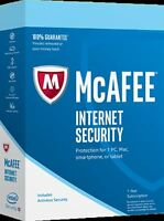 McAfee Internet Security 2020 Ten Users (PC/Mac/Android/iOS) 12 Month