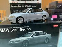Kyosho 1/18 BMW 550i E60 Sedan Original Die-Cast Model Pearl Silver