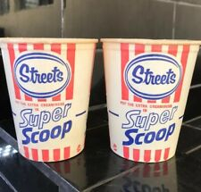 SET OF 2 X STREETS SUPER SCOOP ICE CREAM CUPS Vintage Milk Bar