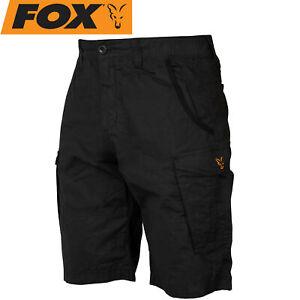 Fox Collection Combat Shorts Black / Orange - kurze Angelhose, Angelbekleidung