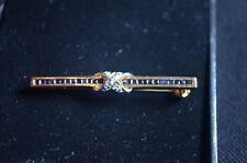 Stunning Unusual Brand new 9 carat yellow gold, sapphire & Diamond brooch pin