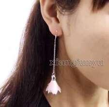 SALE Popular 20*30mm Light Pink Silk Flower Tassel Dangle 3.5'' Earring -ea597