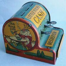 Vintage LITTLE FOLKS Nursery Rhymes Toy Cash Register by A. Groper Corp New YorK
