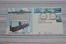 1976 LIMITED EDITION FDC JAPANESE SUBMARINE ATTACK 1942 GARDEN ISLAND