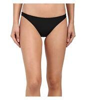 Prana Kala Swim Bikini Bottom Hipster Solid Black Summer Swimwear Size M