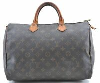 Authentic Louis Vuitton Monogram Speedy 35 Hand Bag M41524 LV B7512