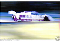 SILKCUT JAGUAR XJR6 XJR-6 AT WARP SPEED PHOTOGRAPH 1986 BRANDS HATCH 1000KM FOTO