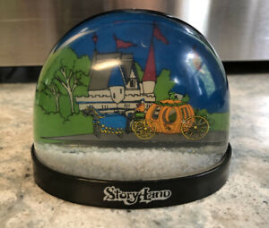 Vintage Plastic Snow Globe Dome Souvenir Travel StoryLand Collectible