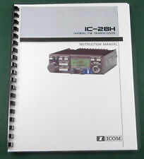 Icom IC-28H Instruction Manual: Comb Bound with Protective Covers!