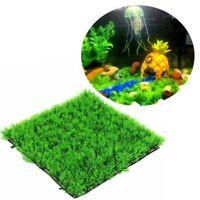 Neu Rasen Gras Aquarium Künstliche Pflanzen Wasserpflanzen Fish Deko Dekoration