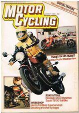 Motorcycling Mar 1980 Kawasaki Z500 Suzuki TS100 Hobbs Hobbit Honda XL service