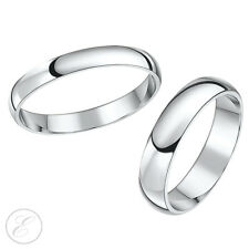 Platinum Wedding Rings 3mm & 5mm His-Hers Court Shaped Bands Solid & Hallmarked